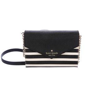 Kate Spade Crossbody Bag Black + White Stripes